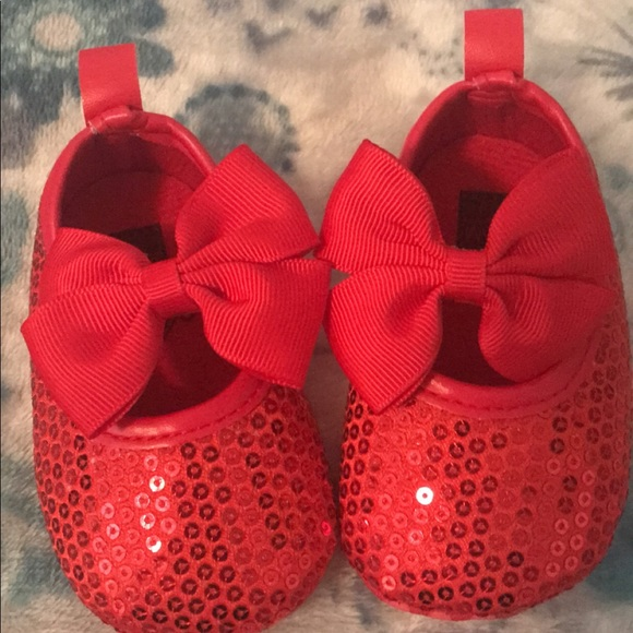 homemade Shoes | Ruby Red Baby Girl